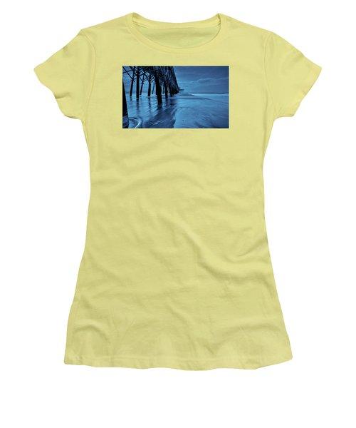 Blue Pier Women's T-Shirt (Athletic Fit)
