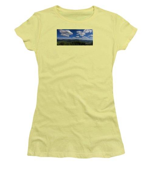 Blue Ridge Mountains Women's T-Shirt (Junior Cut) by Barbara Bowen