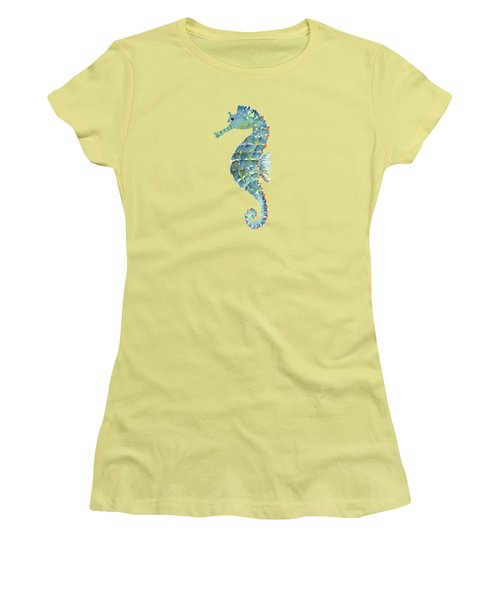 Blue Seahorse Women's T-Shirt (Junior Cut)