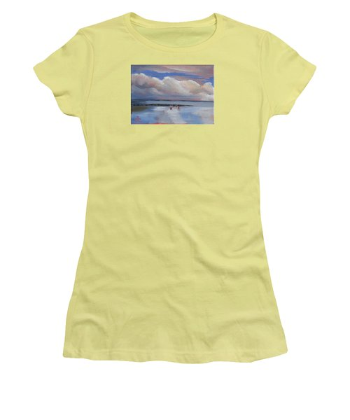 Blue Sky And Clouds I Women's T-Shirt (Junior Cut) by Trina Teele
