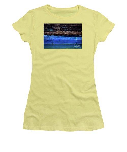 Blue Tanker Women's T-Shirt (Athletic Fit)