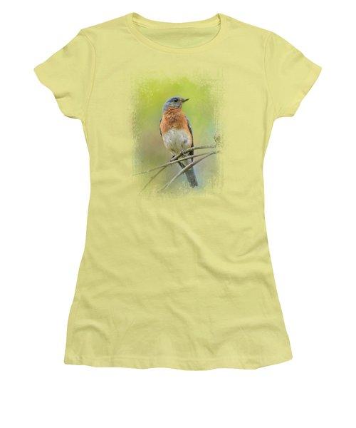 Bluebird On A Spring Day Women's T-Shirt (Junior Cut) by Jai Johnson