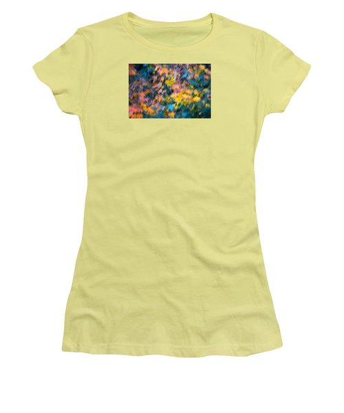 Blurred Leaf Abstract 3 Women's T-Shirt (Athletic Fit)