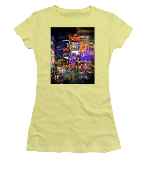 Blurry Vegas Nights Women's T-Shirt (Junior Cut)