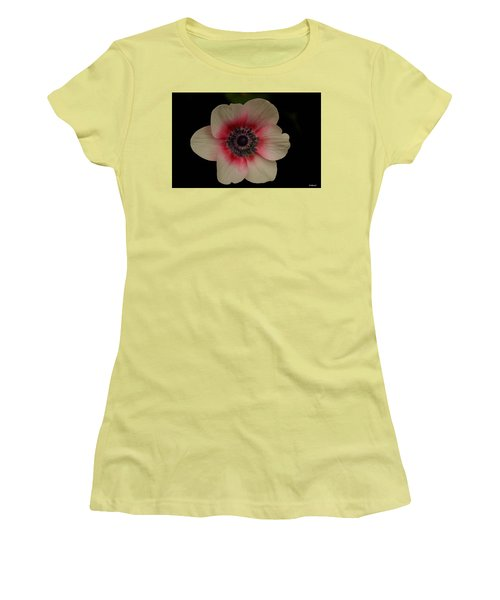 Women's T-Shirt (Junior Cut) featuring the photograph Blushing  by Uri Baruch