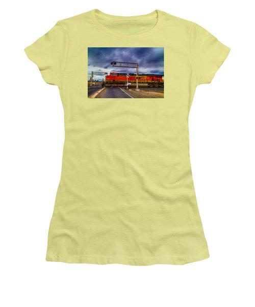 Bnsf 7682 Crossing Women's T-Shirt (Junior Cut) by Bartz Johnson