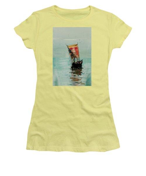 Boat Women's T-Shirt (Junior Cut) by Helal Uddin