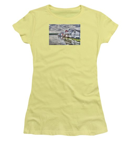 Boat Houses In The Finger Lakes Women's T-Shirt (Athletic Fit)