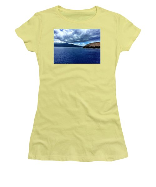 Women's T-Shirt (Junior Cut) featuring the photograph Boat View 3 by Michael Albright