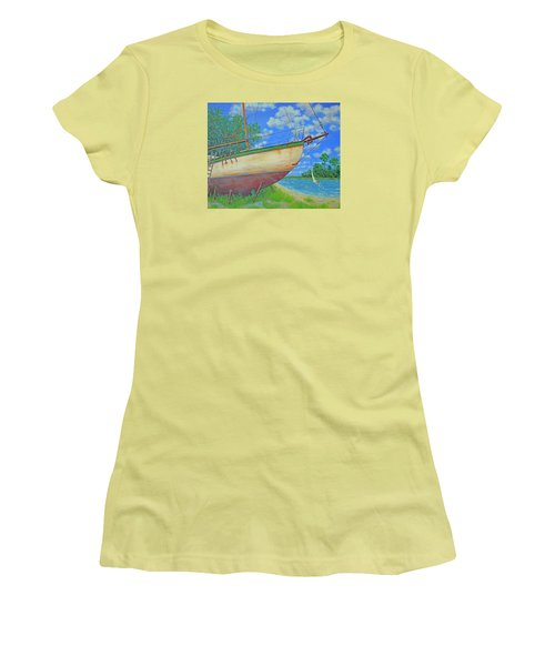 Boatyard On Shem Creek Women's T-Shirt (Athletic Fit)