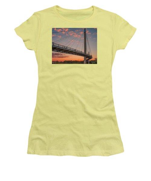 Bob Kerry Bridge At Sunrise-4 Women's T-Shirt (Athletic Fit)