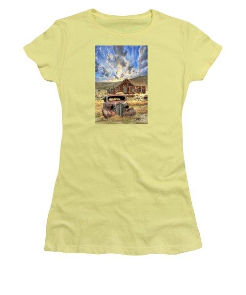 Bodie Ghost Town Women's T-Shirt (Junior Cut) by Benanne Stiens