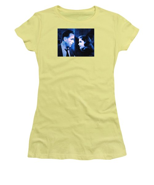 Bogart And Bacall - The Big Sleep Women's T-Shirt (Athletic Fit)