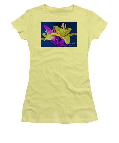 Women's T-Shirt (Junior Cut) featuring the photograph Bold Beautiful Flowers by Ray Shrewsberry