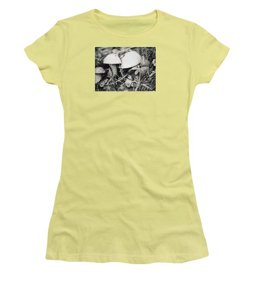 Women's T-Shirt (Junior Cut) featuring the photograph Boletus Mushrooms by Juls Adams