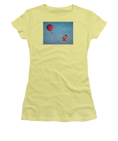 Women's T-Shirt (Junior Cut) featuring the painting Bon Voyage by Dee Davis