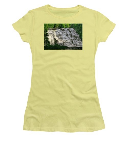 Women's T-Shirt (Junior Cut) featuring the photograph Bond Falls - Haight - Michigan 001 by George Bostian