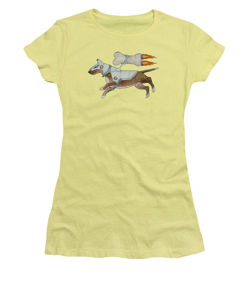 Women's T-Shirt (Junior Cut) featuring the painting Bone Commander by Jindra Noewi