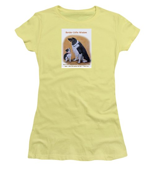 Border Collie Wisdom Women's T-Shirt (Athletic Fit)
