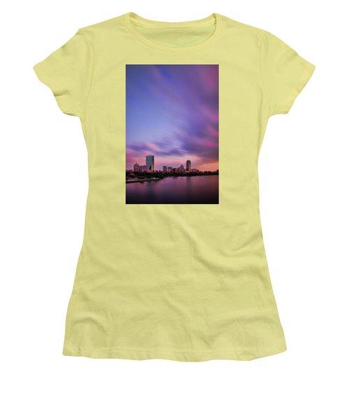 Boston Afterglow Women's T-Shirt (Junior Cut) by Rick Berk