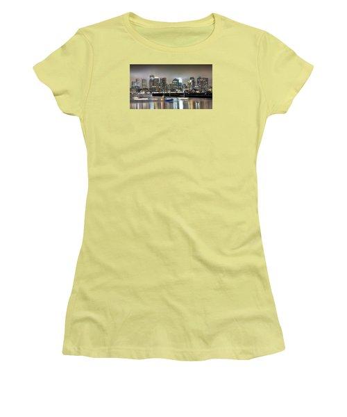 Boston Massachusetts Women's T-Shirt (Junior Cut) by Brendan Reals