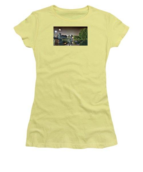 Boston Public Garden - Lagoon Bridge Women's T-Shirt (Junior Cut) by Brendan Reals