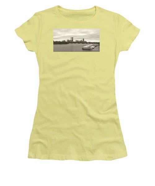 Boston View Women's T-Shirt (Junior Cut) by Raymond Earley