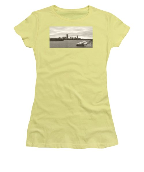 Boston View Women's T-Shirt (Athletic Fit)