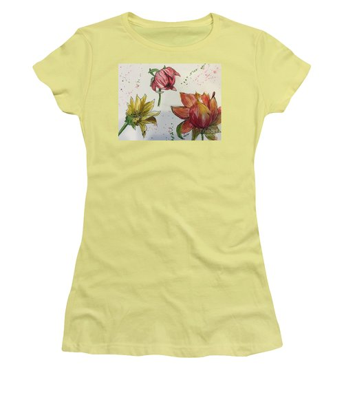 Botanicals Women's T-Shirt (Junior Cut) by Lucia Grilletto