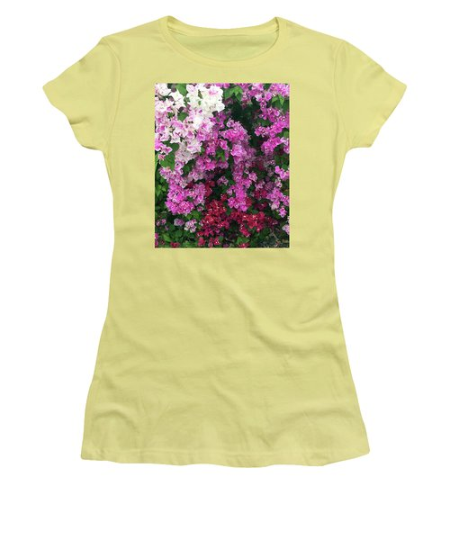 Bougainville Flowers In Hawaii Women's T-Shirt (Junior Cut) by Karen Nicholson