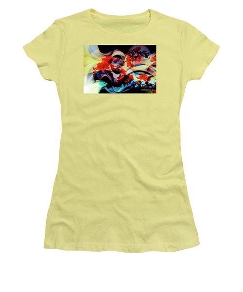 Women's T-Shirt (Junior Cut) featuring the photograph Bougainvillea At Joe's Secret Garden IIi by Al Bourassa