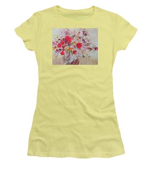Women's T-Shirt (Junior Cut) featuring the painting Bouquet Desjours by Joanne Smoley