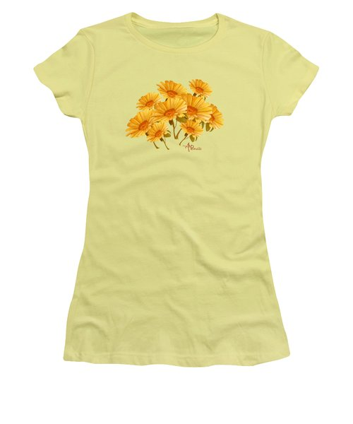 Bouquet Of Daisies Women's T-Shirt (Junior Cut) by Angeles M Pomata