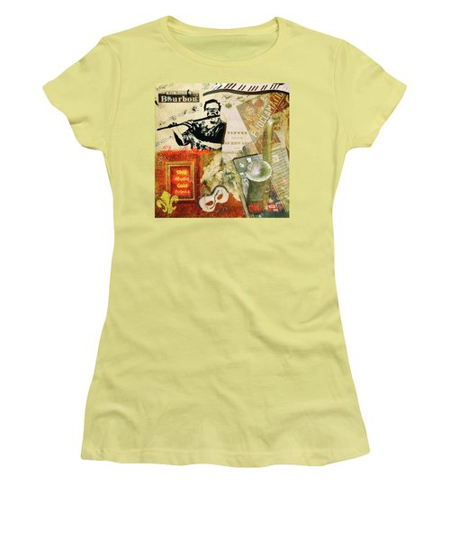 Bourbon Street Collage Women's T-Shirt (Athletic Fit)