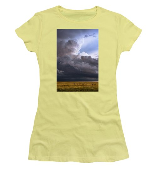 Bovine Tower Women's T-Shirt (Athletic Fit)