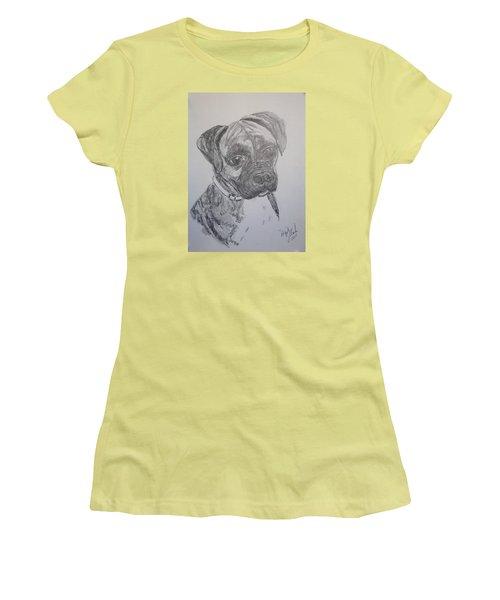 Boxer Women's T-Shirt (Junior Cut) by Marilyn Zalatan