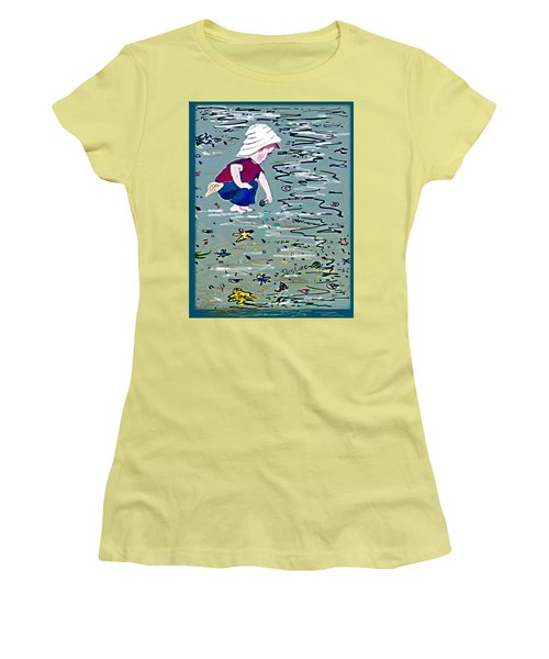 Boy On Beach Women's T-Shirt (Athletic Fit)