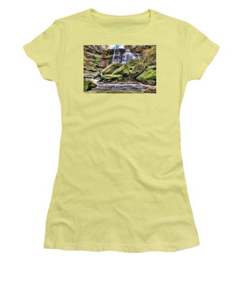 Brandywine Falls Women's T-Shirt (Junior Cut) by Brent Durken