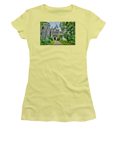 Women's T-Shirt (Athletic Fit) featuring the photograph Braunfels Castle by David Morefield