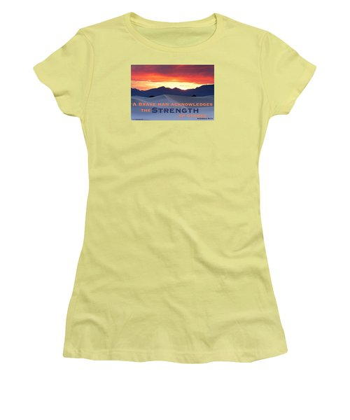 Brave Thoughts Women's T-Shirt (Athletic Fit)