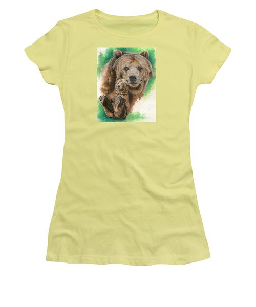 Women's T-Shirt (Junior Cut) featuring the painting Brawny by Barbara Keith