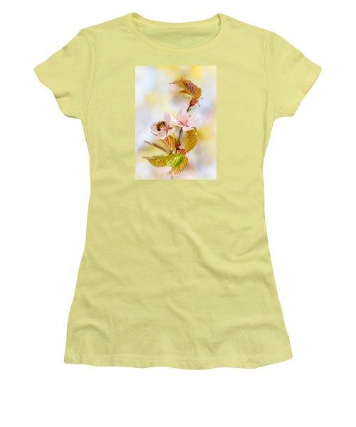 Women's T-Shirt (Junior Cut) featuring the photograph Breakfast At Sakura by Alexander Senin