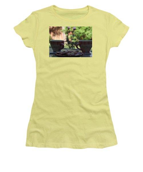 Breakfast Time Women's T-Shirt (Junior Cut) by Vadim Levin