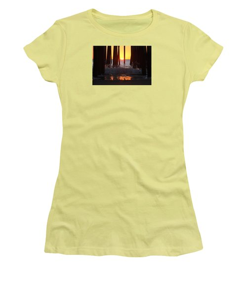 Breaking Dawn At The Pier Women's T-Shirt (Junior Cut)