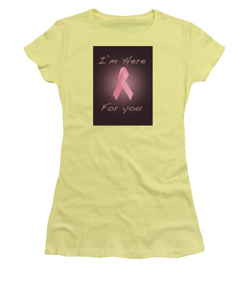 Breast Cancer Women's T-Shirt (Junior Cut) by Jim  Hatch