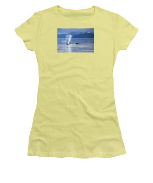 Breath Of A Whale Women's T-Shirt (Junior Cut) by Michele Cornelius