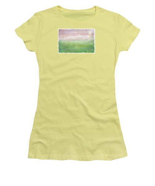 Women's T-Shirt (Junior Cut) featuring the digital art Breath Of Spring by Christina Lihani