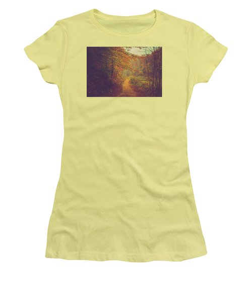 Women's T-Shirt (Junior Cut) featuring the photograph Breathe In Autumn by Shane Holsclaw