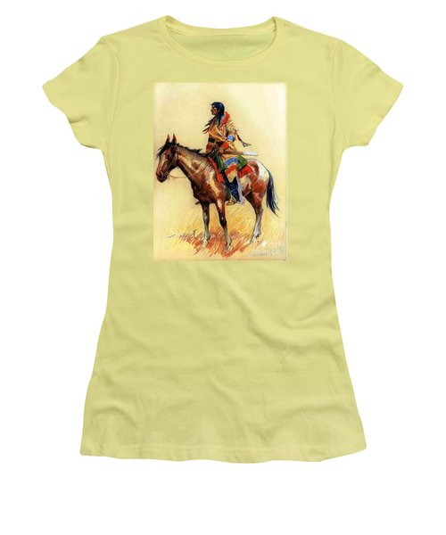 Women's T-Shirt (Junior Cut) featuring the painting Breed by Pg Reproductions