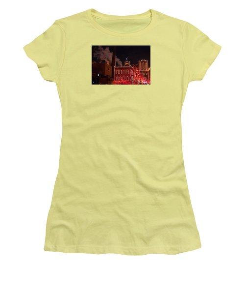 Brewery Lights Women's T-Shirt (Junior Cut) by Steve Stuller